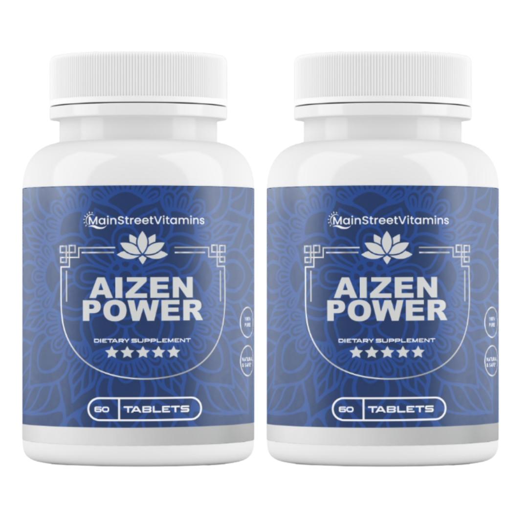 2 Bottles Aizen Power Supplement by Main Street Vitamins 60 Capsules