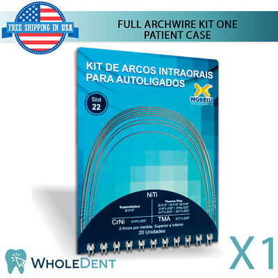 Orthodontic Dental Self Ligating Full Archwire Kit Patient Case Morelli Brackets