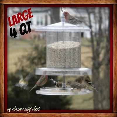 Songbird Essentials ALL WEATHER Bird Seed Feeder LARGE 4 Quart. WEATHERPROOF New
