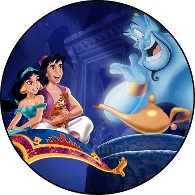 Aladdin Prinzessin Jasmin Eßbar Tortenaufleger NEU Party Deko Geburtstag Serie  ()