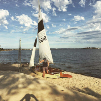 125 sailing dinghy
