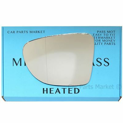 Wing Mirror Glass For RENAULT CLIO MK3 2008-2012 CONVEX TAPE Right Side #H026