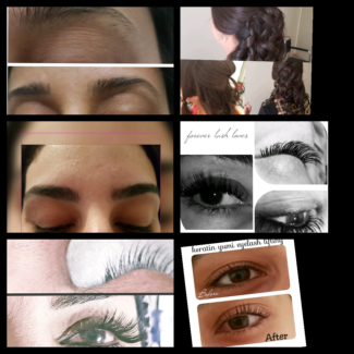 Eyelash extensions  & hair styling  & yumi  I lash lifting