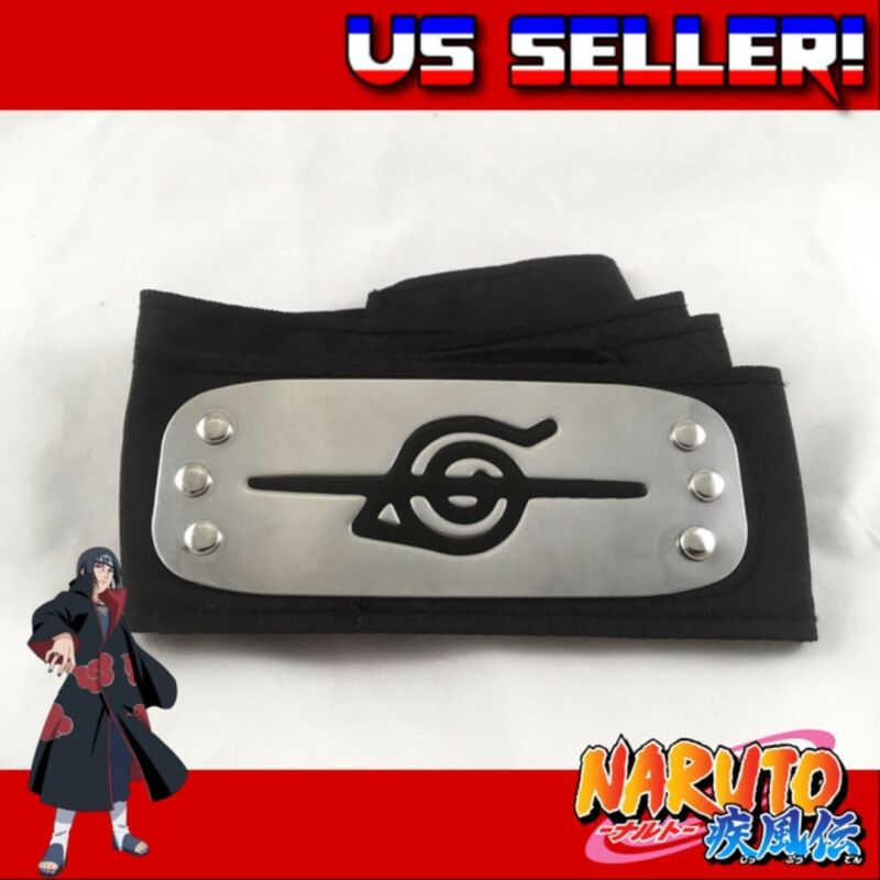 Naruto Shippuden Black ITACHI UCHIHA Rogue Leaf Headband Cosplay Akatsuki