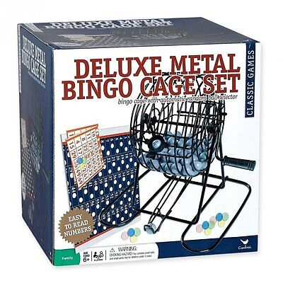 Deluxe Wire Cage Bingo Set with Balls and Cards New  Free Shipping
