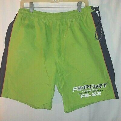 44d254b1db Fila FSport High Performance Mens Swim Trunk Suit XL Neon Green Pre-owned