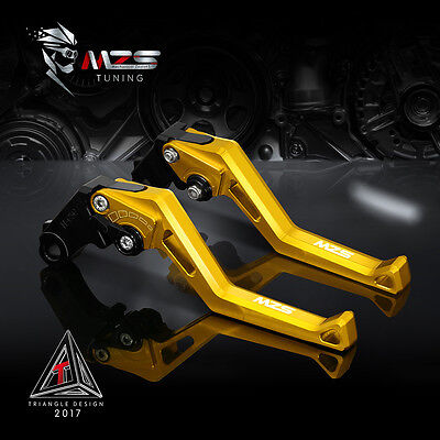 MZS Brake Clutch Levers For BMW R1200S 06-08 K1300 S/R/GT 09-15 K1600 GTL Gold