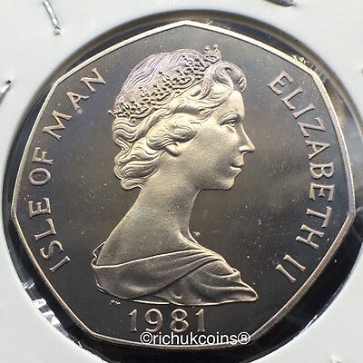 1981 IOM Xmas 50p Diamond Finish Coin with BB die marks