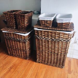 Woven Basket and Laundry Set