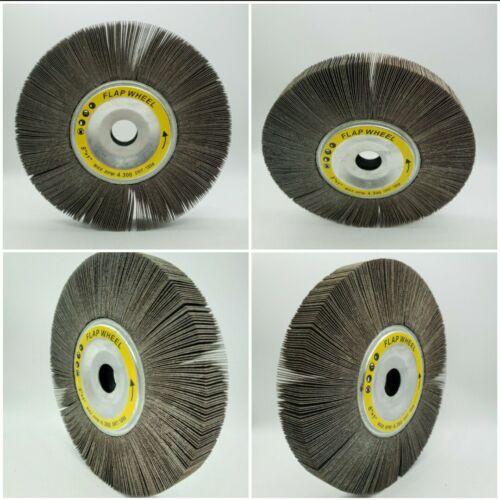 Lot of 4 NEW Unmounted Flap Wheels 8″x1″x1″ 180 Grit – Flap Wheel 4 pack 8x1x1 Abrasive Wheels