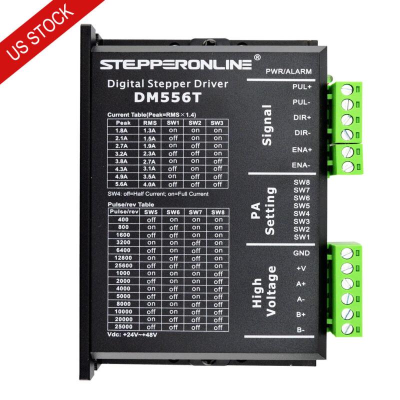 Digital Stepper Motor Driver 1.8-5.6A 20-50VDC for Nema 23/24/34 Stepper Motor