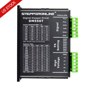 US Free Shipping Stepper Driver 1.8-5.6A 20-50VDC To Nema 23,24,34 Stepper Motor