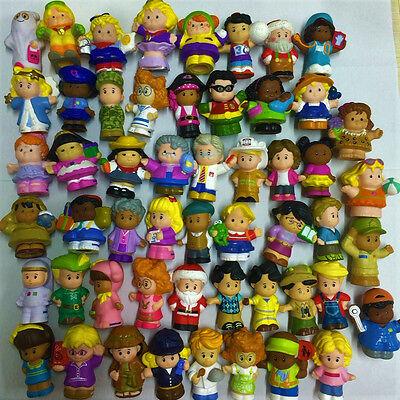 Random 10pcs Fisher Price Little People DC Comics Sofie Figure Boy Girl Toy Doll