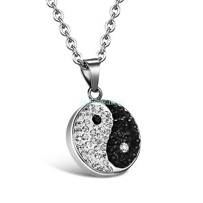 New Stainless Steel Chain w/ Chinese TAI CHI YIN YANG Pendant Unisex Necklaces