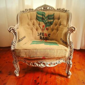 Reupholstered carved armchair Strathfield Strathfield Area Preview