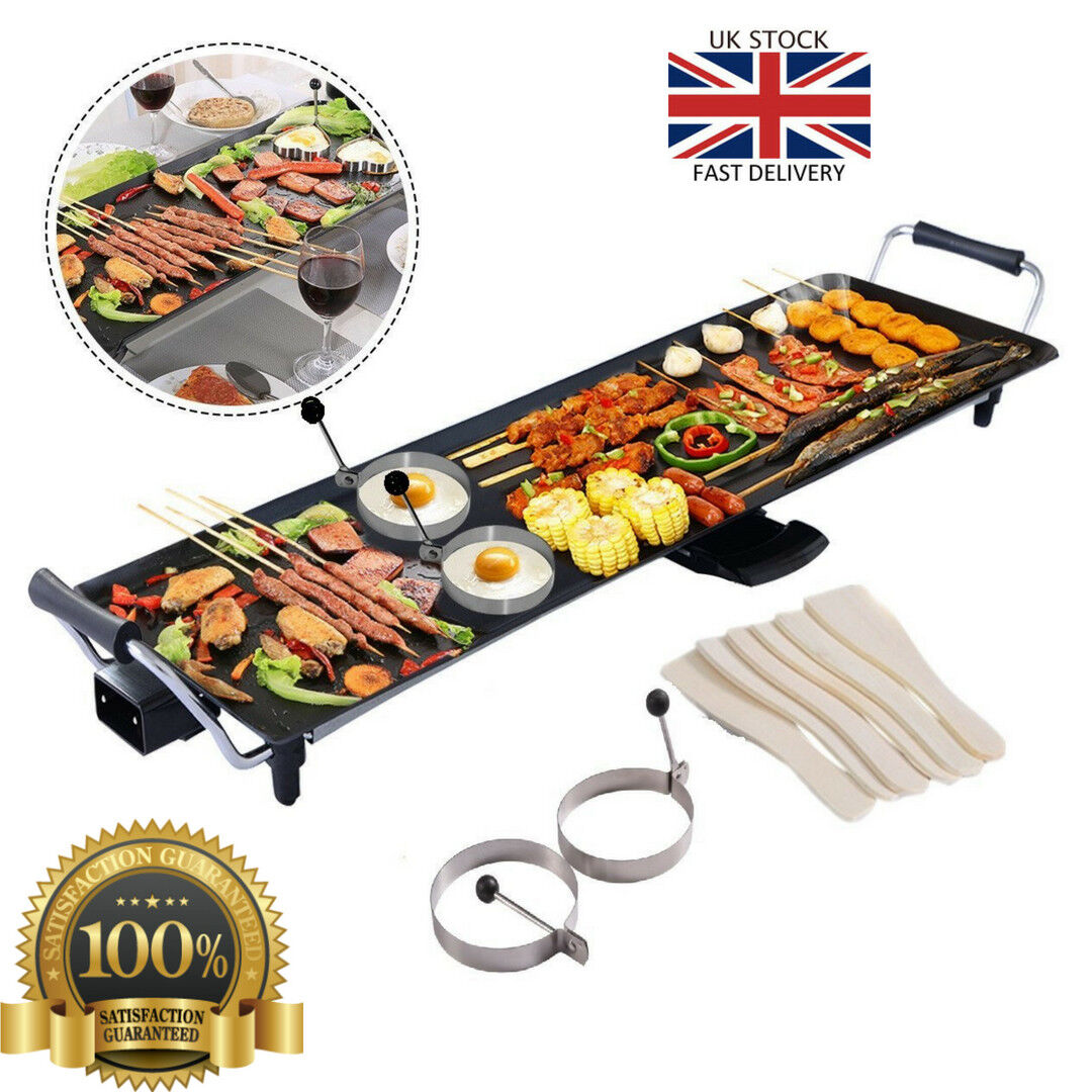 Electric Teppanyaki Table Grill Griddle BBQ Hot Plate Barbec