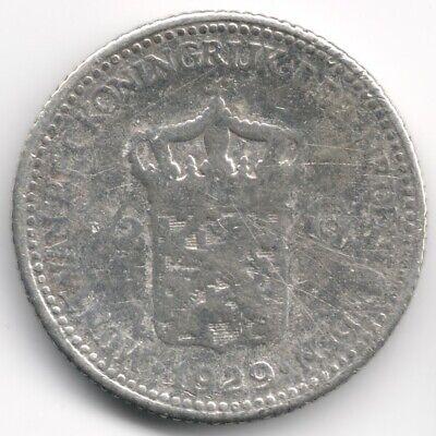 Netherlands : 1/2 Gulden 1929 Silver Low Grade