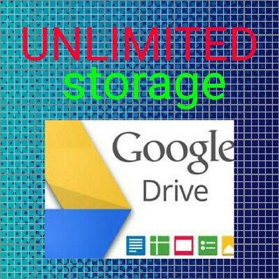 Google Drive Unlimited Storage GDRIVE. Read Descriptions review Photos  Sample