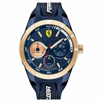 NIB Scuderia Ferrari 0830379 Red Rev T Series 1 Mens Watch