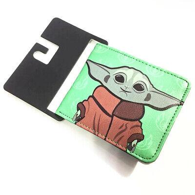 New Star Wars Baby Yoda Mens Short Bi-fold Wallet ID/Credit Holder PU Coin Purse