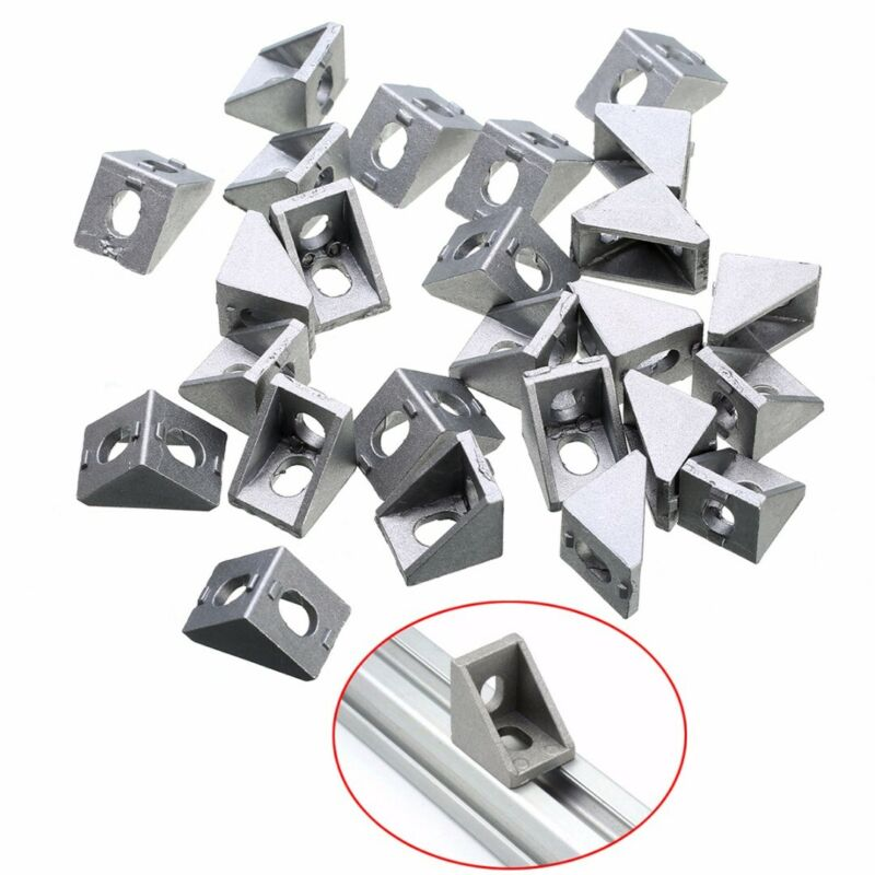 2028 Corner Bracket For 2020 Aluminum Extrusion Size 28x28x20mm Pack Of 5 New