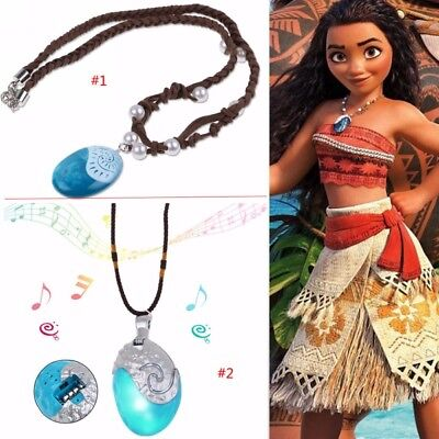 Glowing Necklace (Moana Necklace Costume Cosplay Props Princess Heart of Te Fiti Glowing)