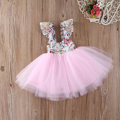 Baby-prinzessin (Blumenmädchen Kleid Kinder Baby Prinzessin Blumenspitze Partykleid Tutu)