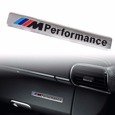 1pcs 3D Aluminum ///M performance Car Emblem Badge Sticker Decal for BMW Silver