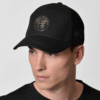 Alfa Romeo 110th Anniversary Emblem Baseball Cap Hat Black Official Merchandise