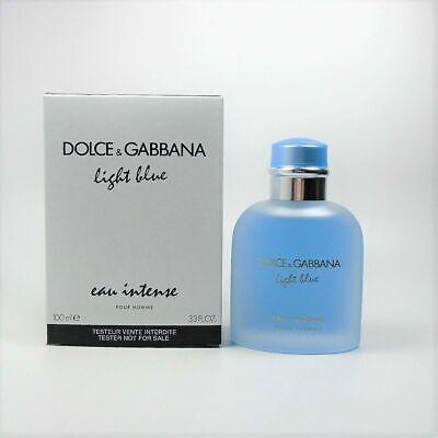 LIGHT BLUE EAU INTENSE by DOLCE & GABBANA 3.3 o.z EDP *MEN'S PERFUME*NEW TESTR