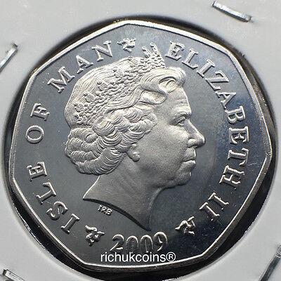 2009 IOM T.T. Honda Commeorative Diamond Finish 50p Coin