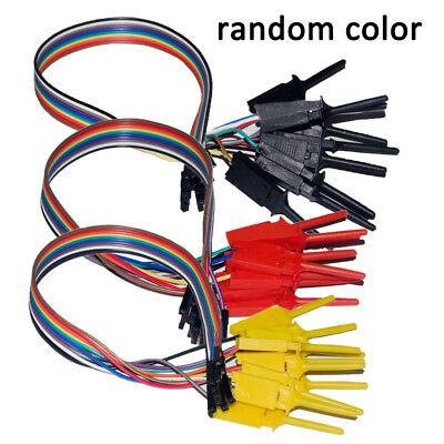 New Logic Analyzer Cable Probe Test Hook Clip Line 10 Channels Random Color