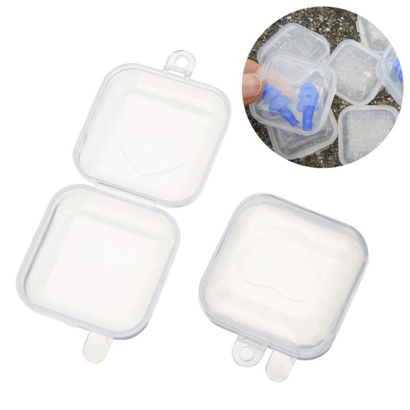 10/20/50Pcs Mini Clear Plastic Small Box Hook Jewelry Earplu