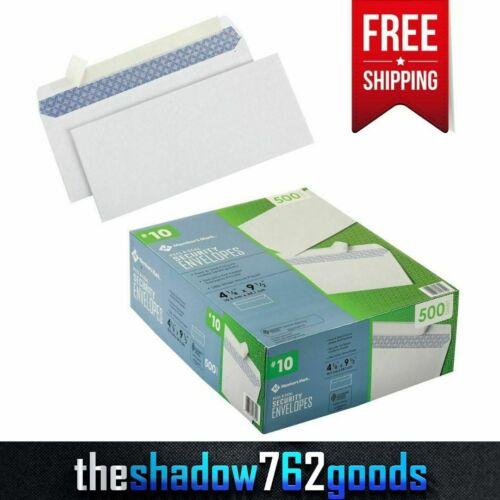 Premium Quality Security White Envelope #10, Peel And Stick Adhesive 500 Count
