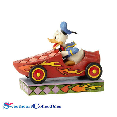 Jim Shore Disney 6000975 Soap Box Derby Donald 2018