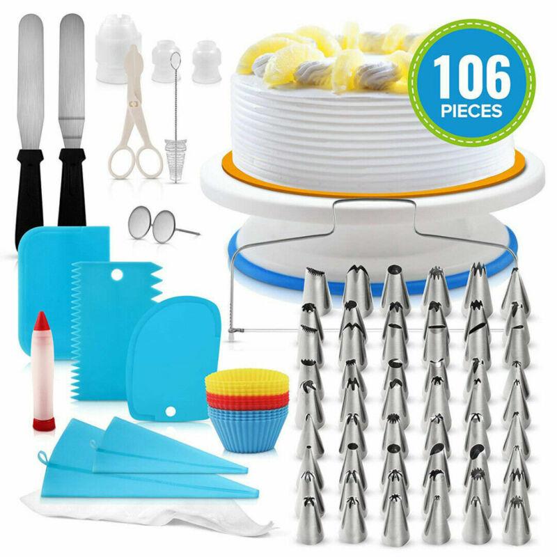 106Pcs Home Baking Supplies Kit DIY Cake Cupcake Decorating