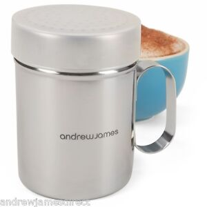 Andrew James Chocolate Shaker Powder Cappuccino Coffee Icing Sugar Duster
