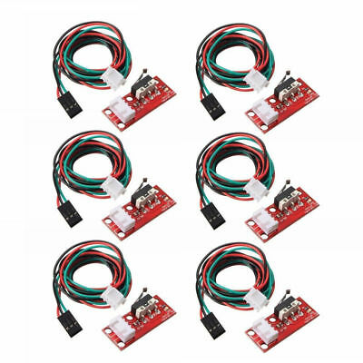 6pcs Endstop Limit Mechanical End Stop Switch W Cable For Cnc 3d Printer Ramps