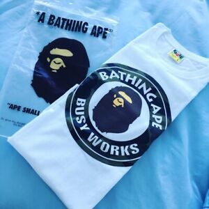 """A Bathing Ape Bape T-shirt """"Busy Works"""" Size : Large Dead Stock Southport Gold Coast City Preview"""