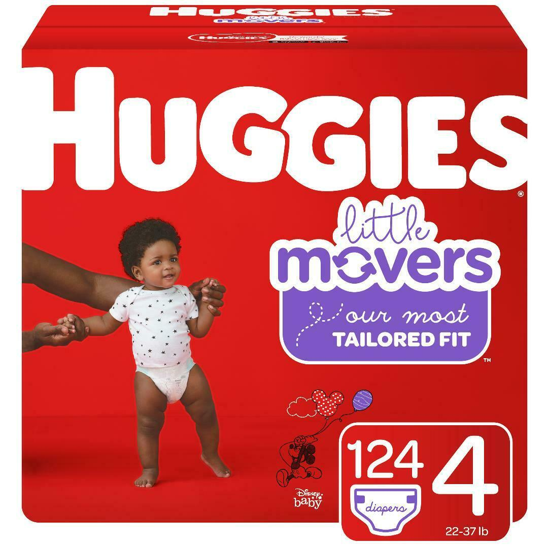 HUGGIES Little Movers Disposable Diapers Size 4  *Free 2 day