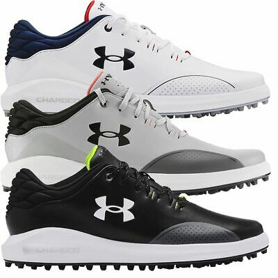 Under Armour Golf Mens UA Draw Sport Wide E Spikeless Leather Golf Shoes