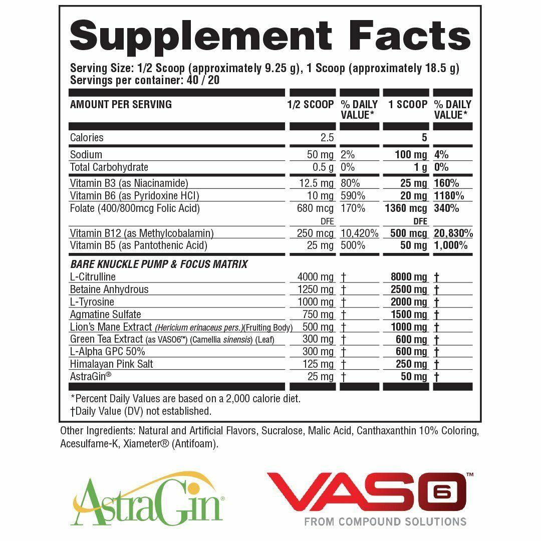 APOLLON NUTRITION HOOLIGAN *BARE KNUCKLE* (40 SERVING) stim-free preworkout pump 1