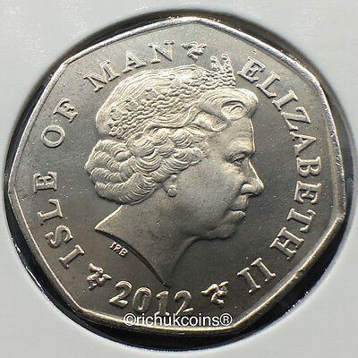2012 IOM Xmas Currency 50p Coin