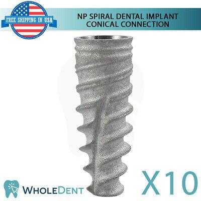 10x Dental Implant Np Conical Connection Hex Titanium Sterile Nobel Active Sla