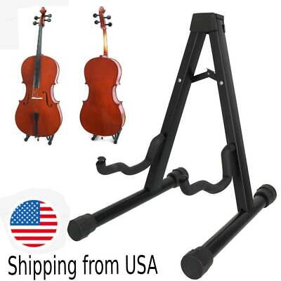 Protable Folding 1/8-4/4 Cellos Cello Guitar Stand Adjustable A-ShapeRack Holder