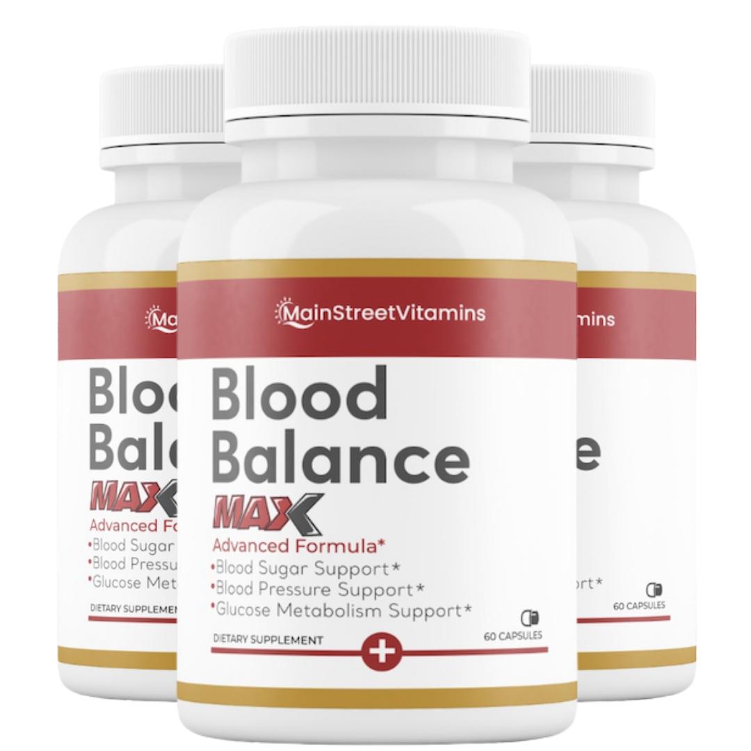 3 Blood Balance Max Formula - 60 Capsules - 180 Capsules - 3 Bottles