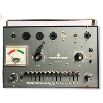 Vintage Commercial Trades Institute Tube Tester Model Tc-20