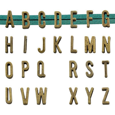25pcs Alphabet Slide Letter Charm, Antique Bronze Tone,Metal A-Z for Bracelet - Charms For A Charm Bracelet