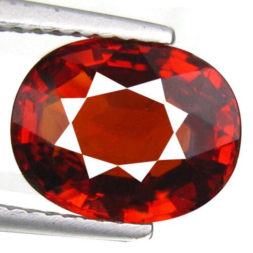 4.00 Ct 8.9 x 7mm Oval Natural Reddish Orange Spessartite Garnet From Namibia