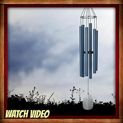 New Woodstock Chimes Bells Of Paradise  Large  Pacific Blue  Musically Tuned